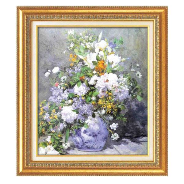 ルノワール名画額F10号 「花瓶の花」 17563「他の商品と同梱不可/北海道、沖縄、離島別途送料」