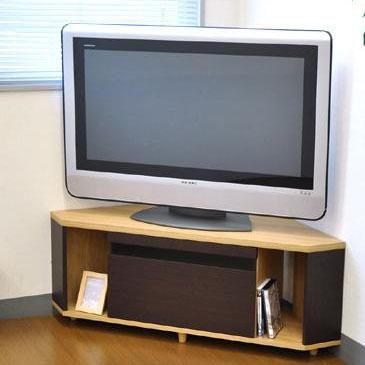 【代引不可】TVboard BKガラススリット コーナーAVボード120 AV-CORN120 ナチュラル&ブラウン「他の商品と同梱不可/北海道、沖縄、離島別途送料」