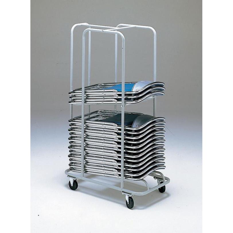 【代引不可】E-10 収納台車(折畳み椅子用)「他の商品と同梱不可/北海道、沖縄、離島別途送料」
