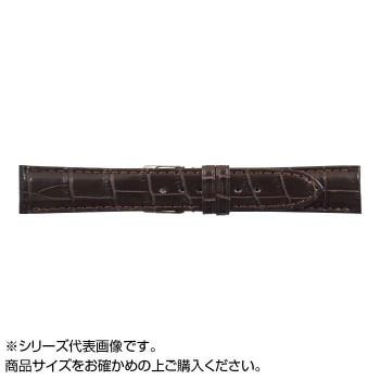 MIMOSA(ミモザ) 時計バンド クロコマット 19mm ブラウン (美錠:銀) WRM-B19「他の商品と同梱不可/北海道、沖縄、離島別途送料」