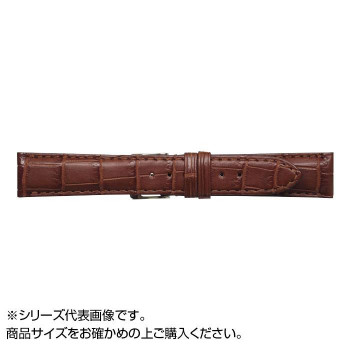MIMOSA(ミモザ) 時計バンド クロコマット 20cm マロンブラウン (美錠:銀) WRM-M20「他の商品と同梱不可/北海道、沖縄、離島別途送料」