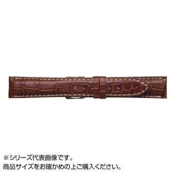 MIMOSA(ミモザ) 時計バンド クロコマット 22cm マロンブラウン/ホワイト (美錠:銀) WRM-MW22「他の商品と同梱不可/北海道、沖縄、離島別途送料」