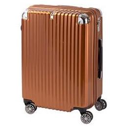 協和 TRAVELIST(トラベリスト) スーツケース ストリークII ジッパーハード Mサイズ TL-14 オレンジヘアライン・76-20226「他の商品と同梱不可/北海道、沖縄、離島別途送料」