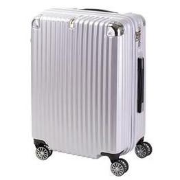 協和 TRAVELIST(トラベリスト) スーツケース ストリークII ジッパーハード Mサイズ TL-14 ホワイトヘアライン・76-20229「他の商品と同梱不可/北海道、沖縄、離島別途送料」