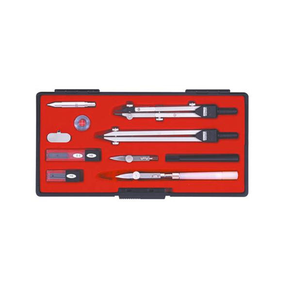 KD型製図器 SEセット SE12品組A 烏口入り 1-730-7023「他の商品と同梱不可/北海道、沖縄、離島別途送料」