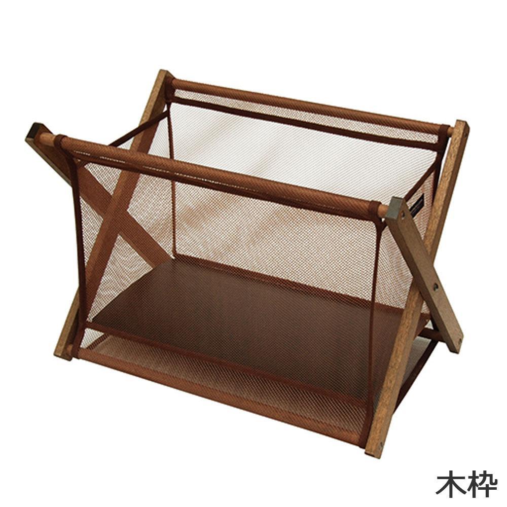 日本製 SAKI(サキ) サイドワゴン 木枠 メッシュ R-342「他の商品と同梱不可/北海道、沖縄、離島別途送料」