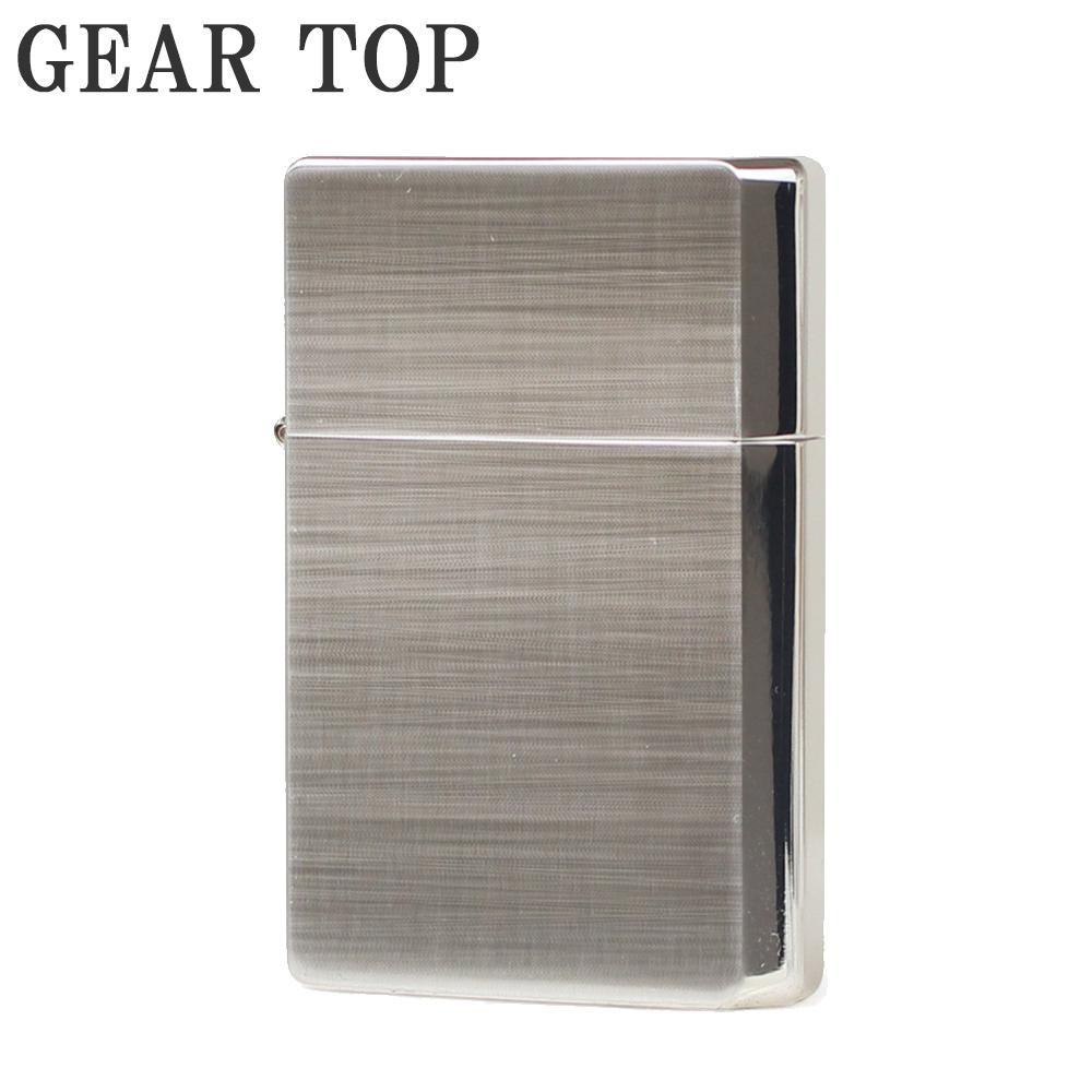 GEAR TOP オイルライター GT1-10 シルバー10ミクロンサテーナ「他の商品と同梱不可/北海道、沖縄、離島別途送料」