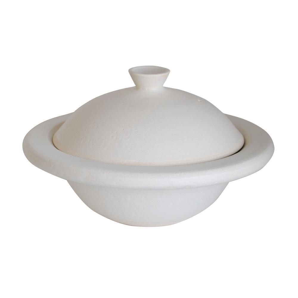 信楽焼 フォルテ 土鍋 ホワイト M0794「他の商品と同梱不可/北海道、沖縄、離島別途送料」