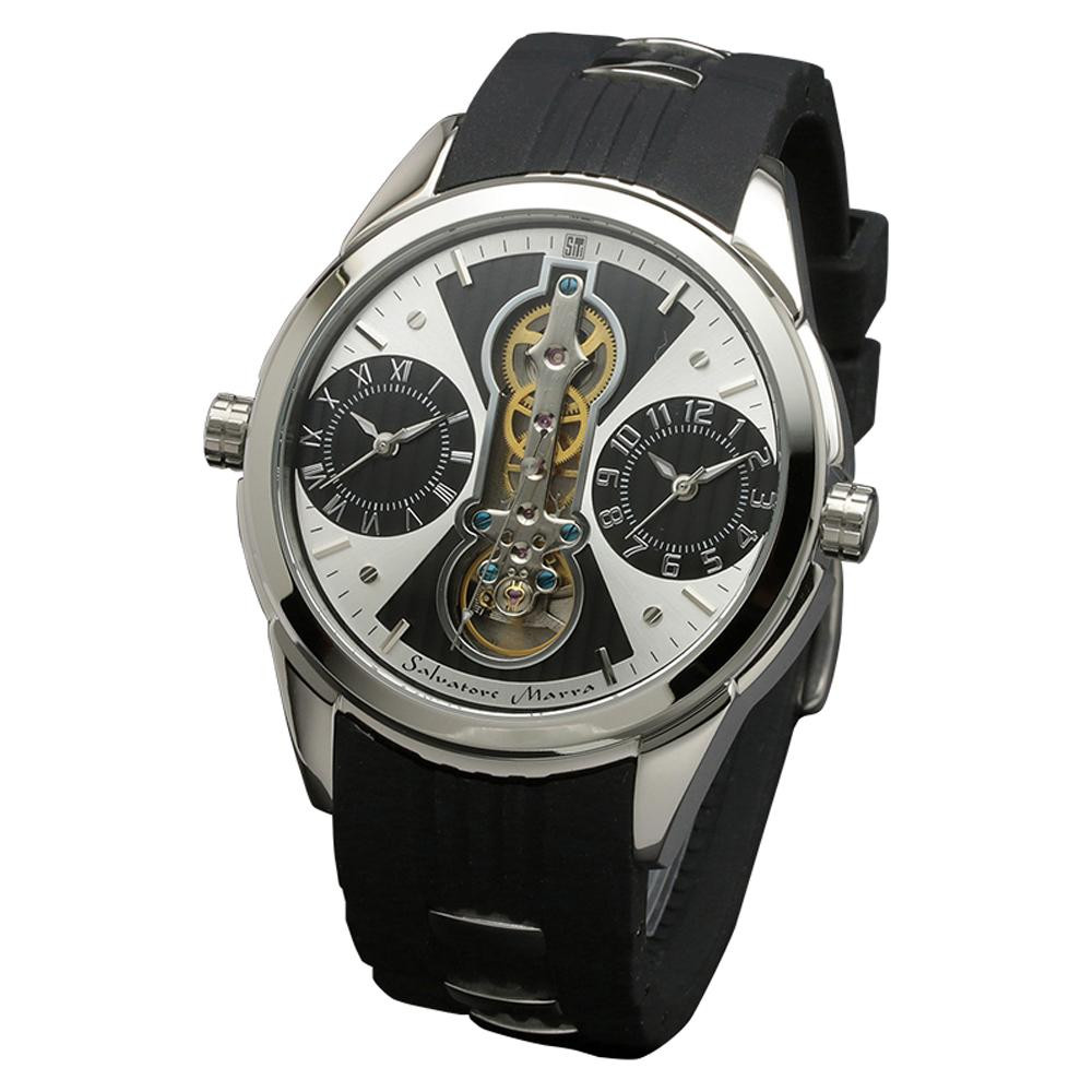 Salvatore Marra(サルバトーレマーラ) 腕時計 SM18113-SSWHBL「他の商品と同梱不可/北海道、沖縄、離島別途送料」
