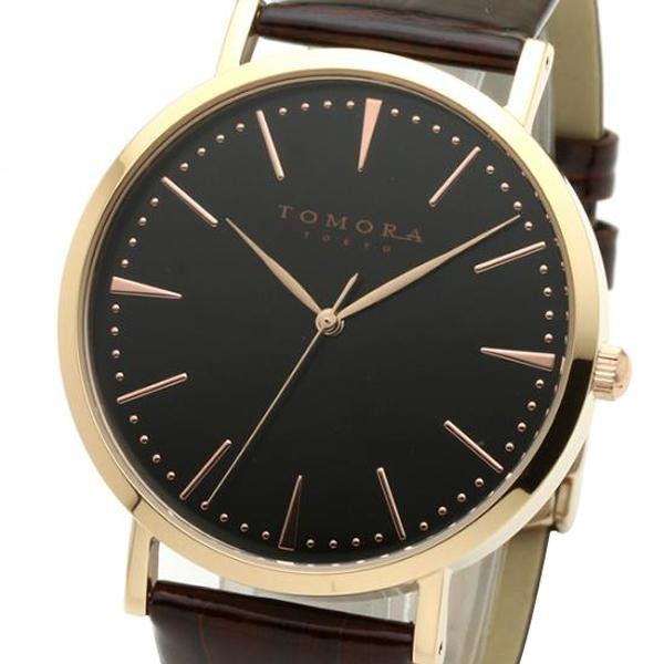TOMORA TOKYO(トモラ トウキョウ) 腕時計 T-1601-PBKBR「他の商品と同梱不可/北海道、沖縄、離島別途送料」