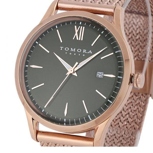 TOMORA TOKYO(トモラ トウキョウ) 腕時計 T-1605SS-PGR「他の商品と同梱不可/北海道、沖縄、離島別途送料」