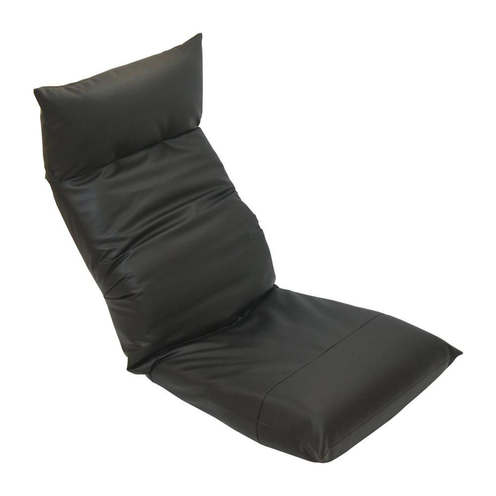 【代引不可】ヘッドリクライニング座椅子 スワロッサー レザー ブラック「他の商品と同梱不可/北海道、沖縄、離島別途送料」