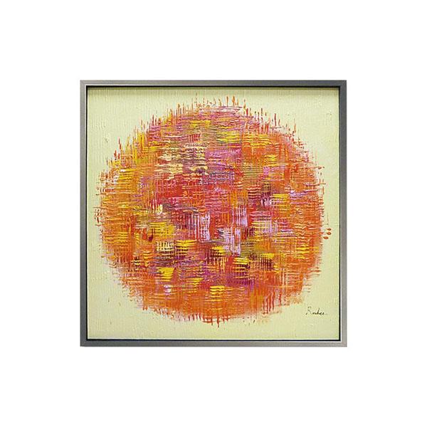 ユーパワー オイル ペイント アート「オレンジ ボール」 OP-25034「他の商品と同梱不可/北海道、沖縄、離島別途送料」