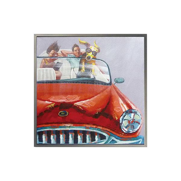 ユーパワー オイル ペイント アート「ドッグ ドライブ」 OP-25046「他の商品と同梱不可/北海道、沖縄、離島別途送料」
