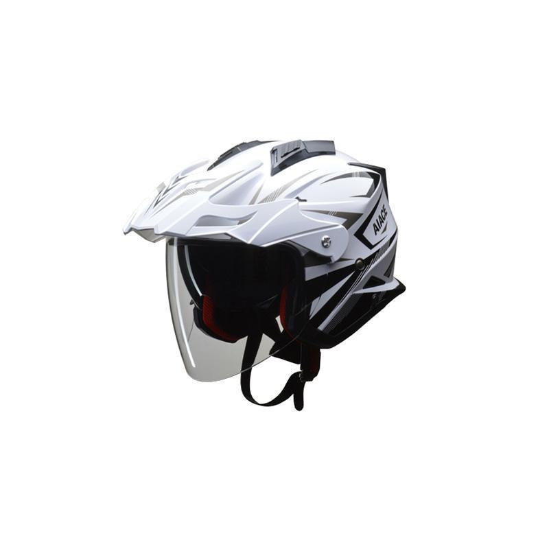 リード工業 LEAD AIACE アドベンチャーヘルメット ホワイト Lサイズ「他の商品と同梱不可/北海道、沖縄、離島別途送料」
