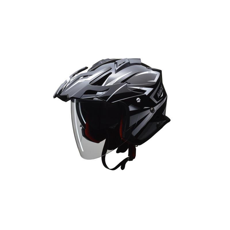 リード工業 LEAD AIACE アドベンチャーヘルメット ブラック Mサイズ「他の商品と同梱不可/北海道、沖縄、離島別途送料」