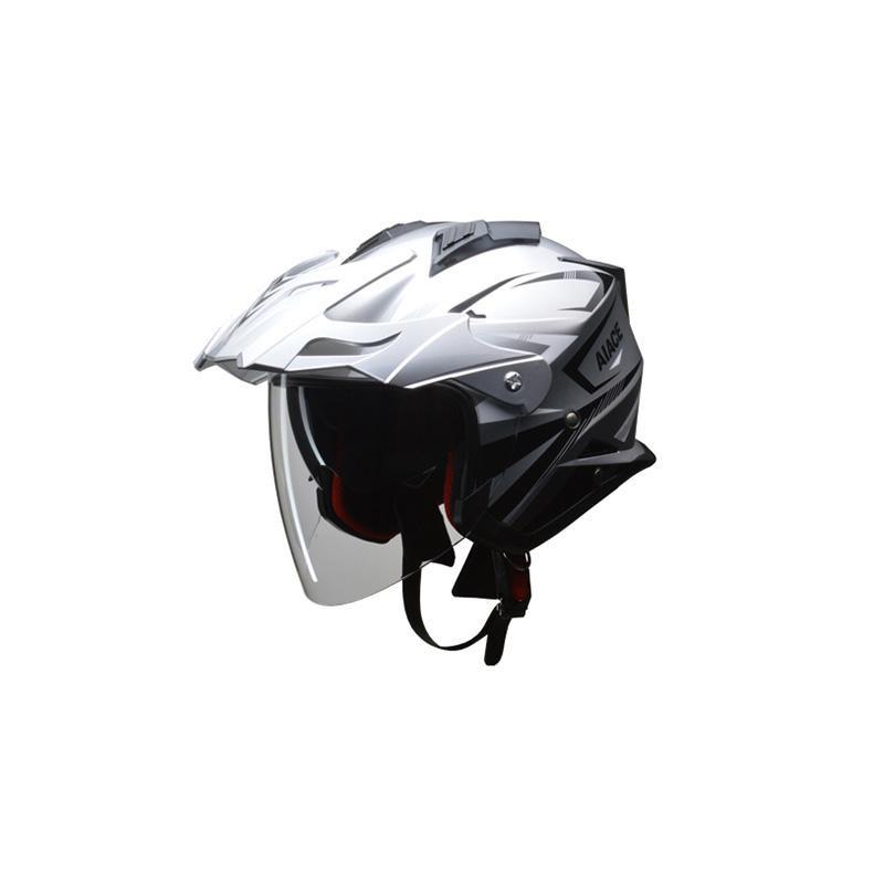 リード工業 LEAD AIACE アドベンチャーヘルメット シルバー Mサイズ「他の商品と同梱不可/北海道、沖縄、離島別途送料」