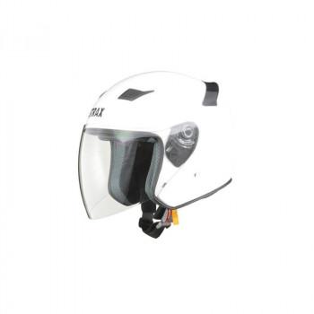 リード工業 STRAX ジェットヘルメット ホワイト LLサイズ SJ-8「他の商品と同梱不可/北海道、沖縄、離島別途送料」