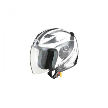 リード工業 STRAX ジェットヘルメット ホワイト Lサイズ SJ-9「他の商品と同梱不可/北海道、沖縄、離島別途送料」