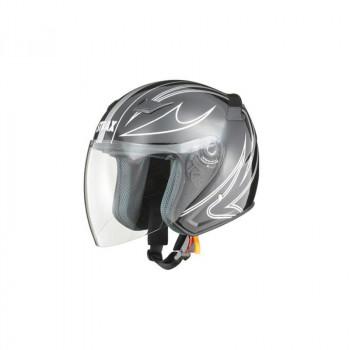 リード工業 STRAX ジェットヘルメット ブラック LLサイズ SJ-9「他の商品と同梱不可/北海道、沖縄、離島別途送料」