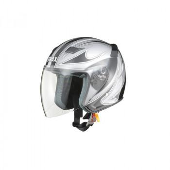 リード工業 STRAX ジェットヘルメット シルバー LLサイズ SJ-9「他の商品と同梱不可/北海道、沖縄、離島別途送料」