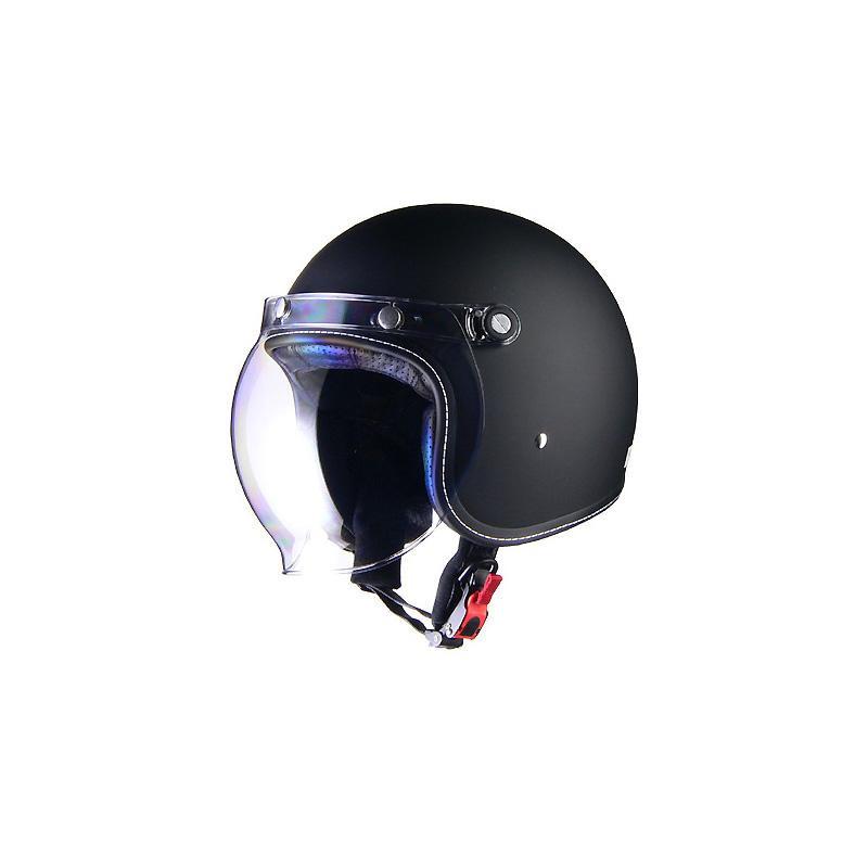 リード工業 Murrey ジェットヘルメット マットブラック Lサイズ MR-70「他の商品と同梱不可/北海道、沖縄、離島別途送料」