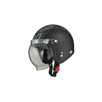 リード工業 LEAD MOUSSE ジェットヘルメット マットトライバル フリーサイズ「他の商品と同梱不可/北海道、沖縄、離島別途送料」
