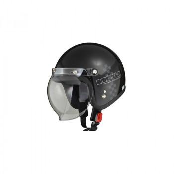 リード工業 LEAD MOUSSE ジェットヘルメット チェックブラック フリーサイズ「他の商品と同梱不可/北海道、沖縄、離島別途送料」