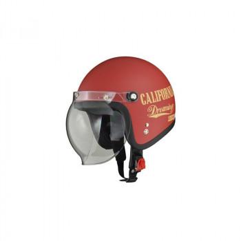 リード工業 LEAD MOUSSE ジェットヘルメット ドリーミンレッド フリーサイズ「他の商品と同梱不可/北海道、沖縄、離島別途送料」