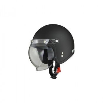 リード工業 LEAD MOUSSE ジェットヘルメット ハーフマットブラック フリーサイズ「他の商品と同梱不可/北海道、沖縄、離島別途送料」