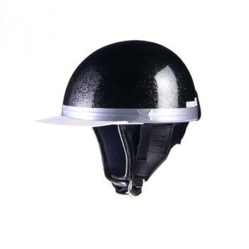 リード工業 HARVE コルクハーフヘルメット メタルブラック フリーサイズ HS-501「他の商品と同梱不可/北海道、沖縄、離島別途送料」