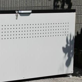 【代引不可】組み立て式 ダストボックス120 DB-120 グレー×ブラック「他の商品と同梱不可/北海道、沖縄、離島別途送料」