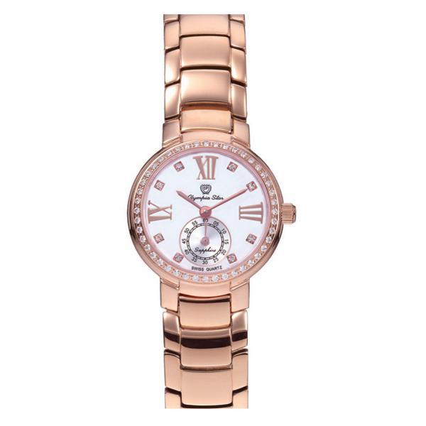 OLYMPIA STAR(オリンピア スター) レディース 腕時計 OP-28012DLR-5「他の商品と同梱不可/北海道、沖縄、離島別途送料」