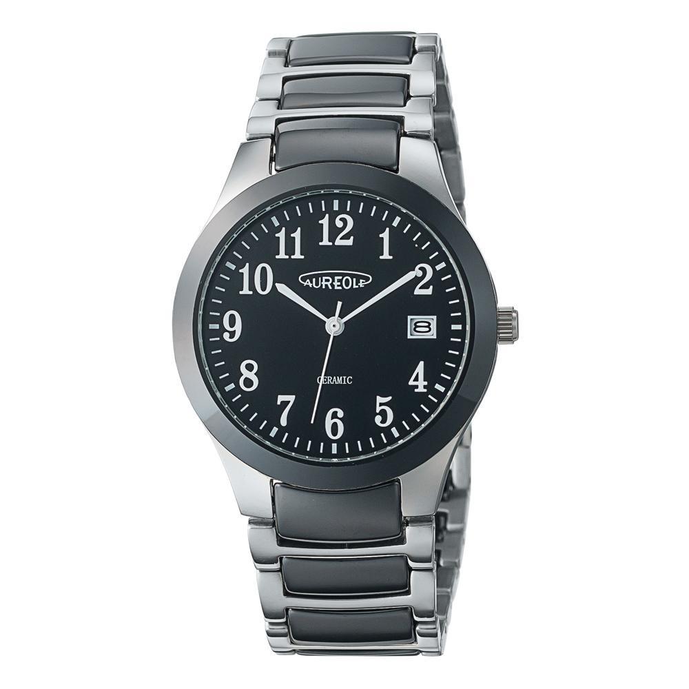 AUREOLE(オレオール) セラミック メンズ 腕時計 SW-611M-01「他の商品と同梱不可/北海道、沖縄、離島別途送料」