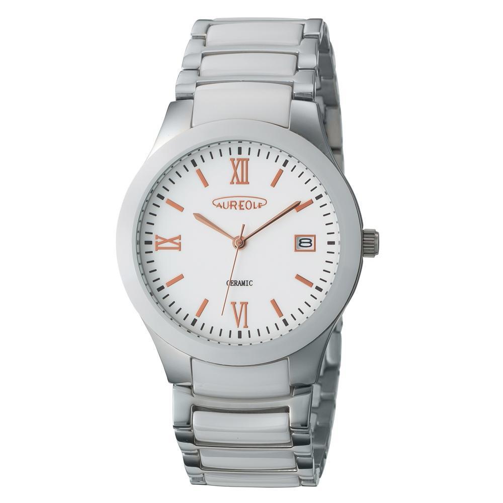 AUREOLE(オレオール) セラミック メンズ 腕時計 SW-611M-02「他の商品と同梱不可/北海道、沖縄、離島別途送料」