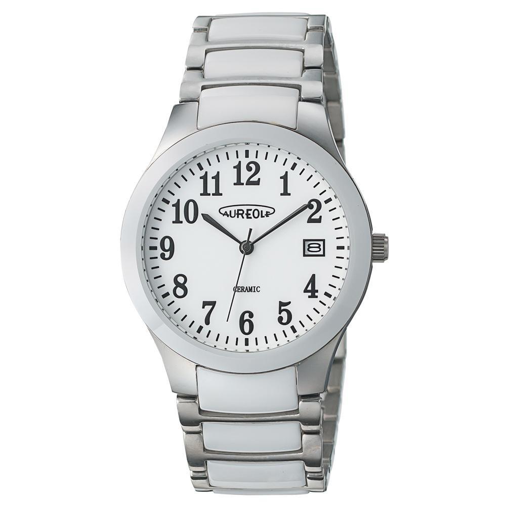 AUREOLE(オレオール) セラミック メンズ 腕時計 SW-611M-03「他の商品と同梱不可/北海道、沖縄、離島別途送料」