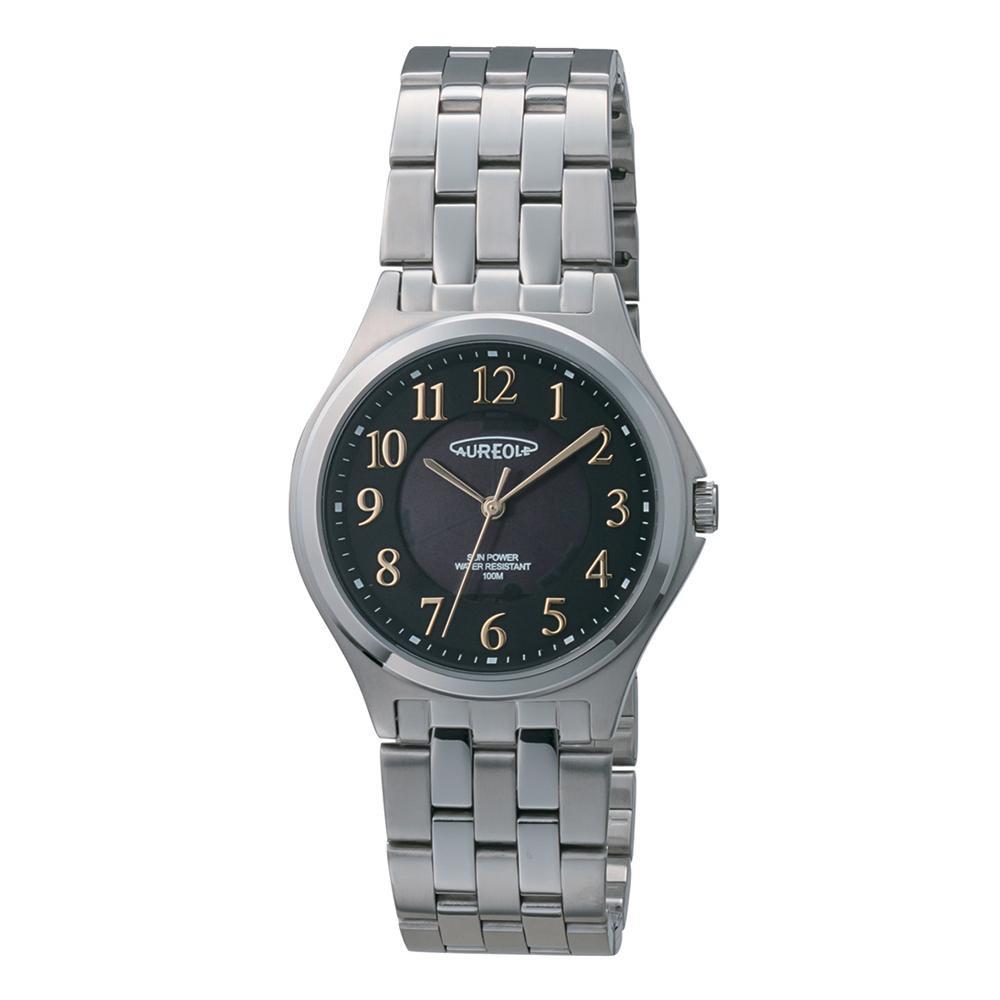AUREOLE(オレオール) ソーラー メンズ 腕時計 SW-593M-01「他の商品と同梱不可/北海道、沖縄、離島別途送料」