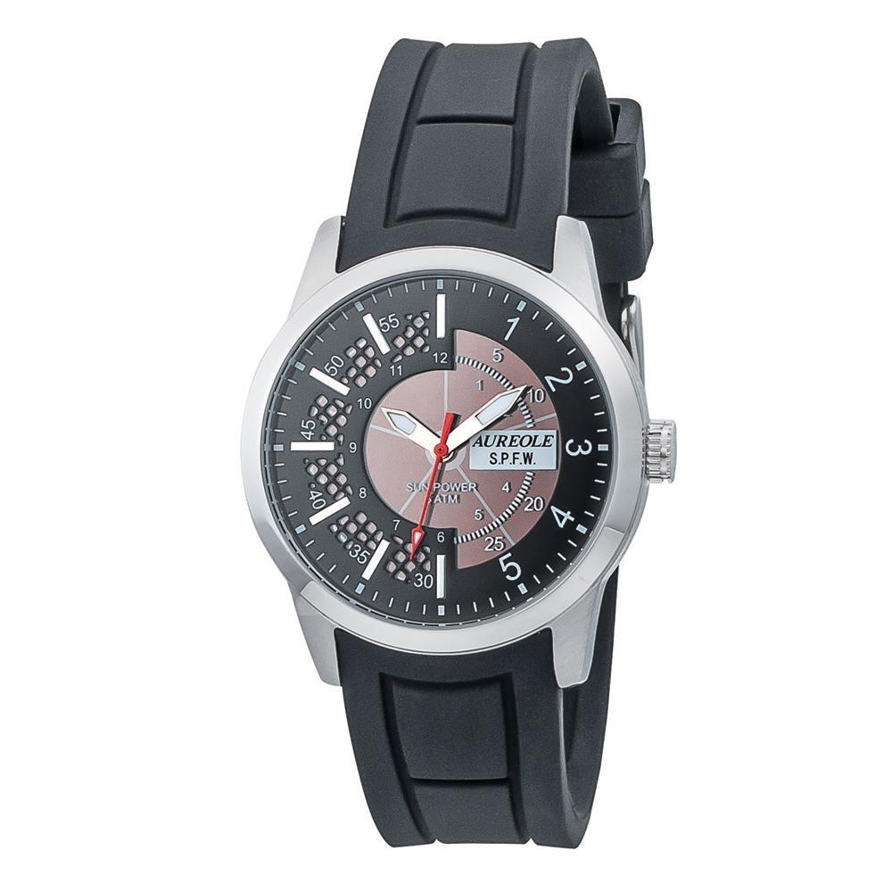 AUREOLE(オレオール) ソーラー メンズ 腕時計 SW-608M-01「他の商品と同梱不可/北海道、沖縄、離島別途送料」