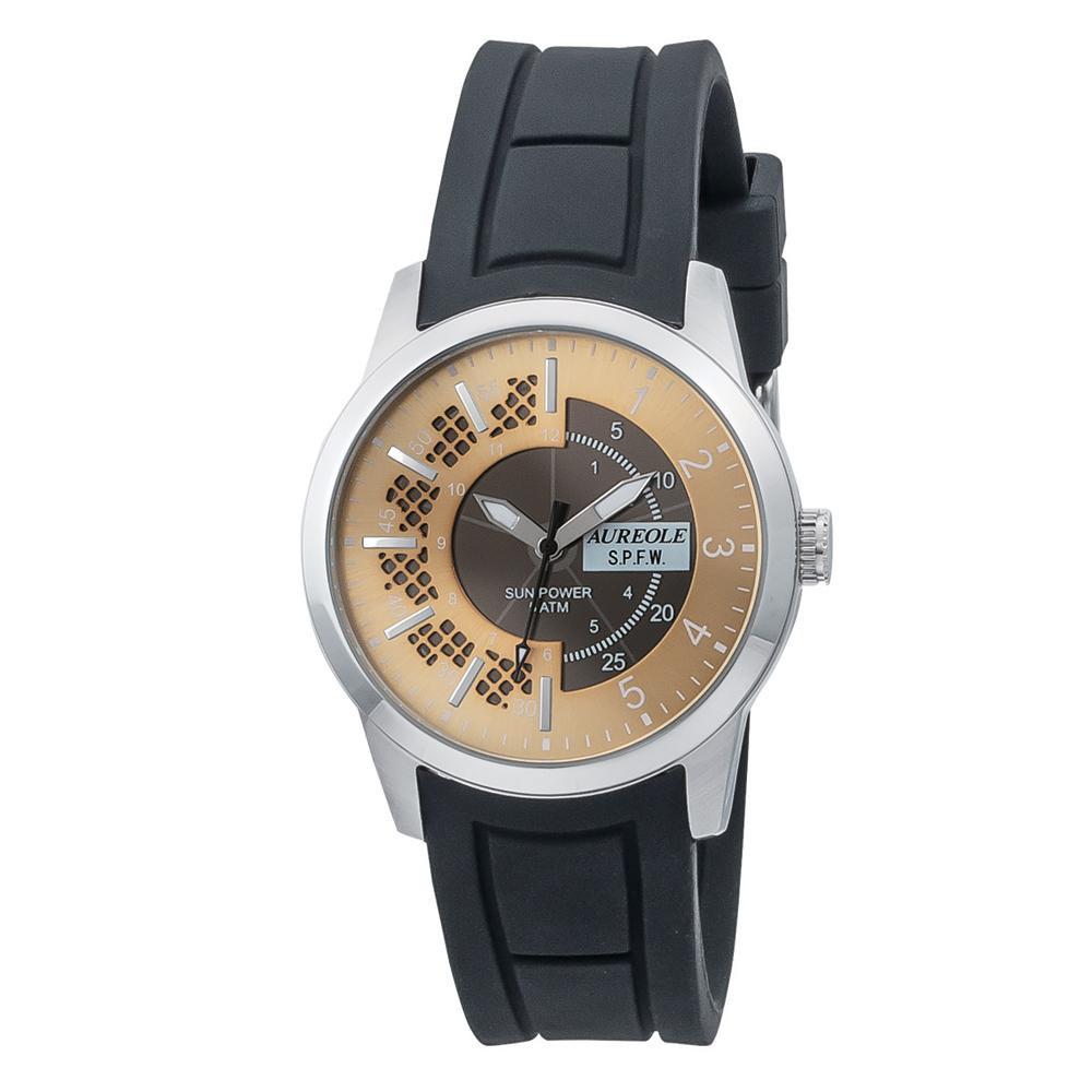 AUREOLE(オレオール) ソーラー メンズ 腕時計 SW-608M-02「他の商品と同梱不可/北海道、沖縄、離島別途送料」