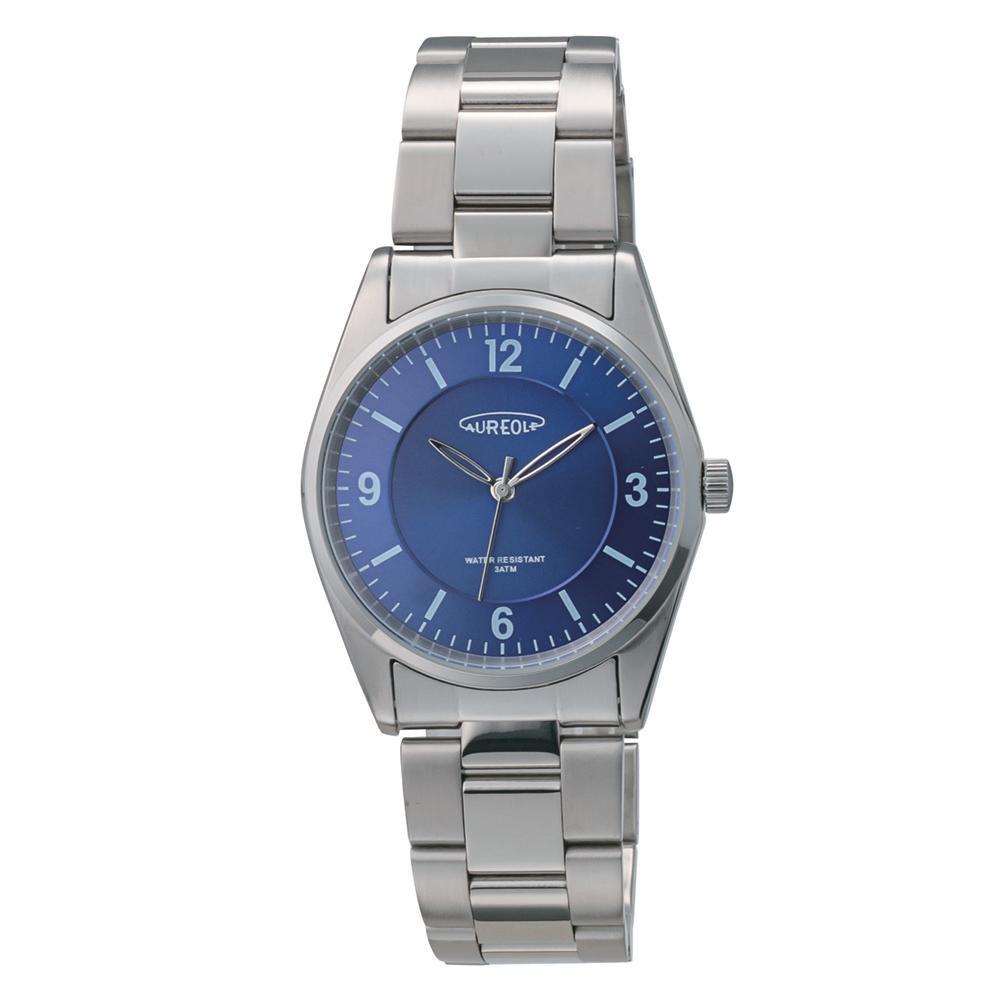 AUREOLE(オレオール) 日本製 メンズ 腕時計 SW-594M-E「他の商品と同梱不可/北海道、沖縄、離島別途送料」