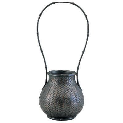 高岡銅器 銅製花瓶 網代 大 98-08「他の商品と同梱不可/北海道、沖縄、離島別途送料」
