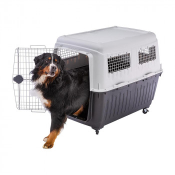 【代引不可】ファープラスト アトラス 80 犬・猫用キャリー グレー 73060021「他の商品と同梱不可/北海道、沖縄、離島別途送料」