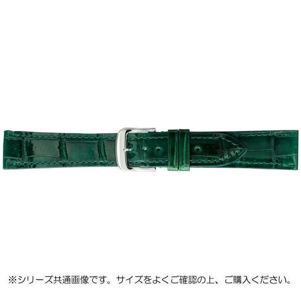 BAMBI バンビ 時計バンド グレーシャス ワニ革 グリーン(美錠:白) BWA005MS「他の商品と同梱不可/北海道、沖縄、離島別途送料」