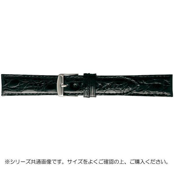 BAMBI バンビ 時計バンド エルセ ワニ革 ブラック(美錠:白) SWA007AI「他の商品と同梱不可/北海道、沖縄、離島別途送料」