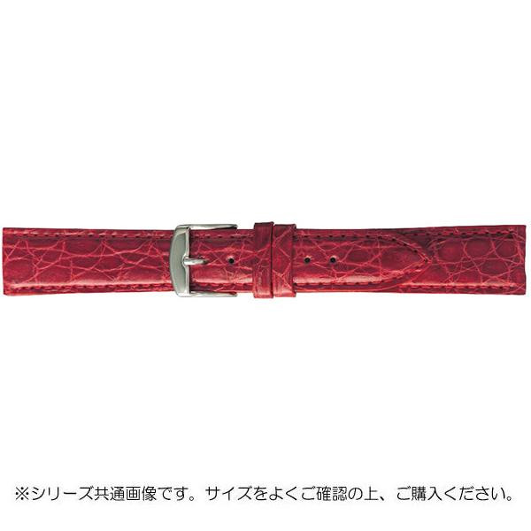 BAMBI バンビ 時計バンド エルセ ワニ革 レッド(美錠:白) SWA007RL「他の商品と同梱不可/北海道、沖縄、離島別途送料」