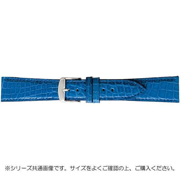 BAMBI バンビ 時計バンド エルセ ワニ革 ブルー(美錠:白) SWA007SI「他の商品と同梱不可/北海道、沖縄、離島別途送料」