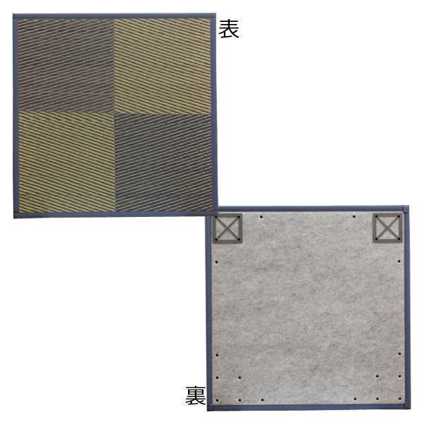 ユニット畳 『ニール』 ブルー 82×82×1.7cm(6枚1セット) 軽量タイプ 8629530「他の商品と同梱不可/北海道、沖縄、離島別途送料」