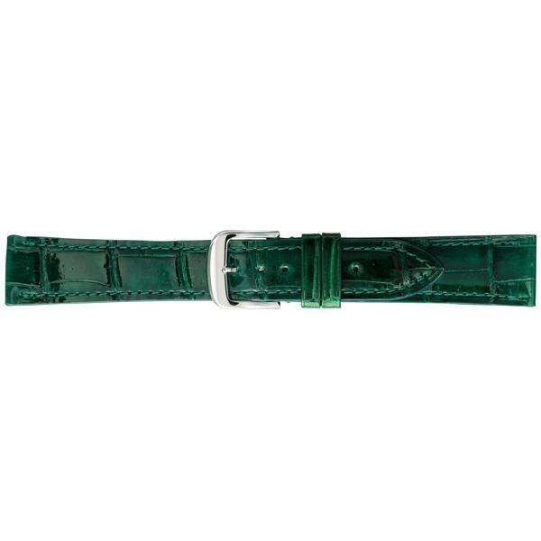 BAMBI バンビ 時計バンド グレーシャス ワニ革(クロコダイル) グリーン BWA005MP「他の商品と同梱不可/北海道、沖縄、離島別途送料」