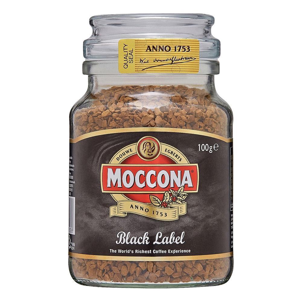 【代引不可】MOCCONA(モッコナ) ブラックラベル 100g×12個セット「他の商品と同梱不可/北海道、沖縄、離島別途送料」