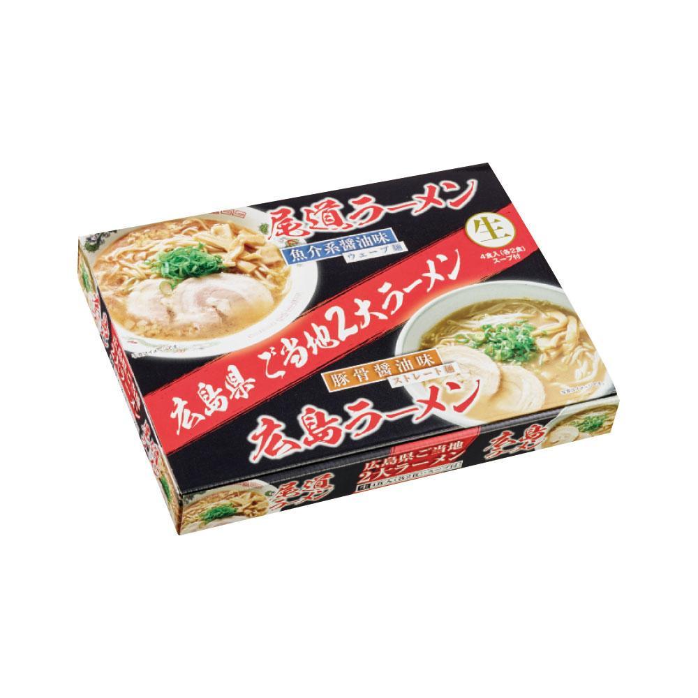 【代引不可】尾道広島ラーメン食べくらべ 4食 18セット RM-97「他の商品と同梱不可/北海道、沖縄、離島別途送料」